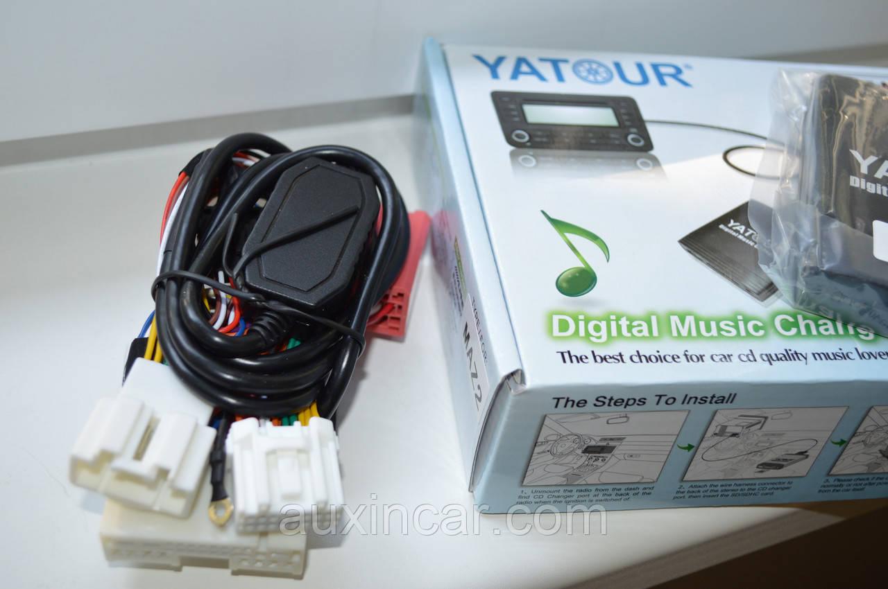 Флеш сд карта аукс адаптер Yatour MAZ2 для штатной магнитолы Mazda 2й генерации