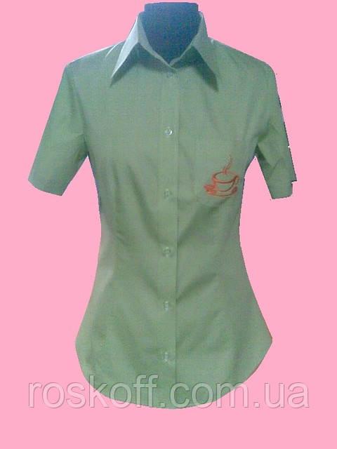 6e1f33e20be Женская блузка на короткий рукав салатового цвета  продажа
