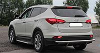 Защита заднего бампера Hyundai Santa Fee 2013- AK002