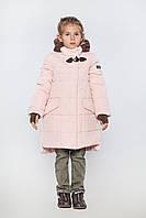 Зимнее модное пальто для девочки 104-122р.