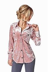 Рубашка классическая бархатная