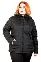 Женская осенняя куртка черного цвета Зара