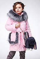 Детская зимняя куртка пуховик для девочки Бетт, рост 116, 122, 128, 134, 140,146, 152, 158
