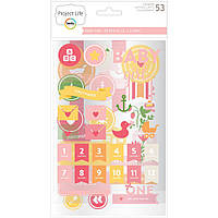Чіпборд - Project Life - Baby Girl - 52pcs