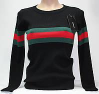 Кофта женская, Gucci, черная с полосками, размер S-M-L