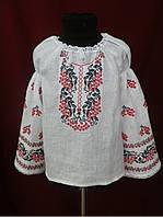 Блузка вышиванка для девочки Красная Калина