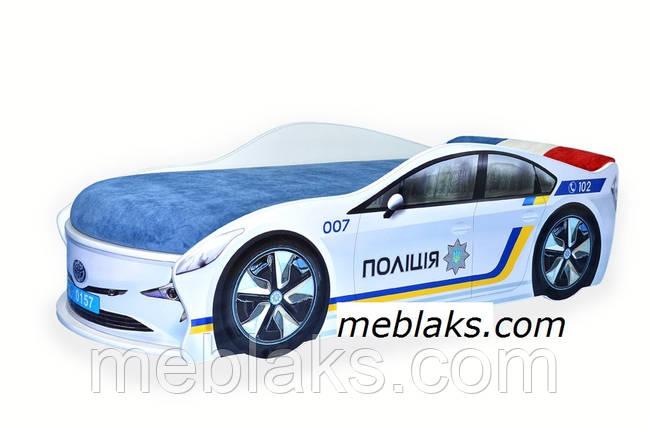 Кроватка машина Полиция Украина Mebelkon, фото 2