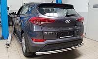 Защита заднего бампера Hyundai Tucson 2016- AK002