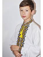 Украинская вышиванка для мальчика Строгий орнамент