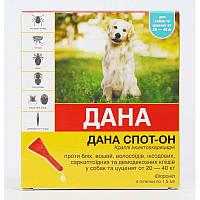 Дана капли от блох и клещей для собак 10-20кг