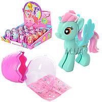 Игрушка лошадка Пони в яйце 070: 4 вида (наклейки в комплекте)