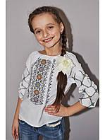 Блузка с вышивкой для девочки 05
