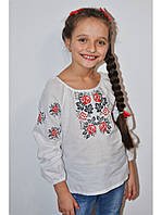 Блузка вышитая для девочки 14