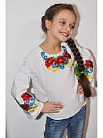Вышитая сорочка для девочки 09