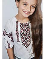 Рубашка с вышивкой для девочки 07