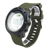 Часы водонепроницаемые спортивные с шагомером Skmei Box Army Green 1215GR