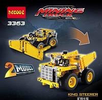 Конструктор Decool 3363 Карьерный самосвал 2в1 (аналог Lego Technic 42035)