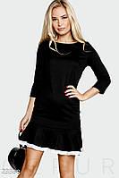Контрастное теннисное платье.  Цвет черно-белый.