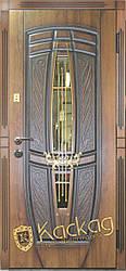 Двери входные со стеклом Пегас серия Премиум Каскад