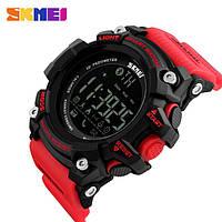 Наручные смарт часы Skmei 1227 красные с черным