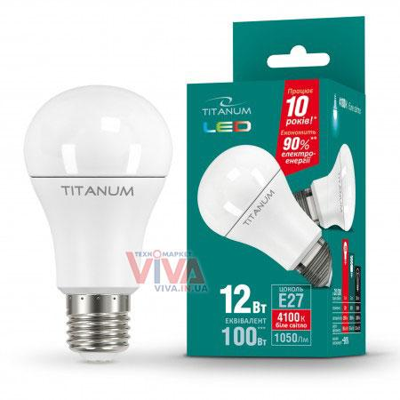 LED лампа Titanum A60 12W E27 4100K 220V, фото 1