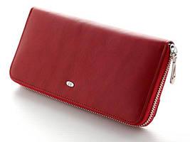 Большой стильный кожаный кошелек клатч на молнии ST. Отличное качество. Доступная цена. Дешево. Код: КГ2187