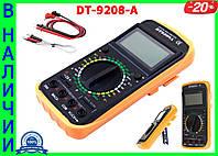Профессиональный цифровой мультиметр тестер DT-9207А/9208А Качество! + щупы + термопара + крона!