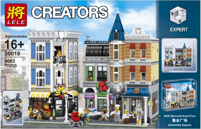 Конструктор Lele 30019 Городская площадь. Креатор  (аналог Lego Creator Expert10255)