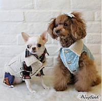 Дубленка для собаки  Vest-Розовый, фото 1