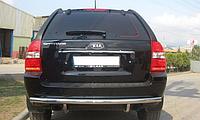 Защита заднего бампера Kia Sportage 2004-2010 AK002