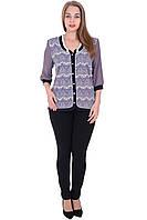 Блуза Руслана фиолетового цвета