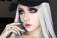 Серые контактные увеличивающие линзы для глаз