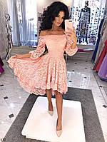Платье кружевное асимметричное 42-46