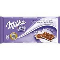 Молочный шоколад Milka Alpine Milk Cream  0.100 гр