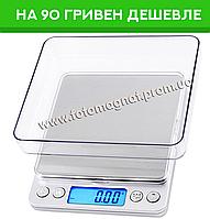 Весы электронные (ювелирные весы) 6295A 500г (0.01) + В комплекте 2 чаши (карманные весы)