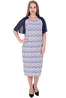 Платье Лейла с короткими рукавами темно фиолетовое