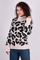 Свитер женский под  горло, женский свитер недорого, вязаный свитер женский
