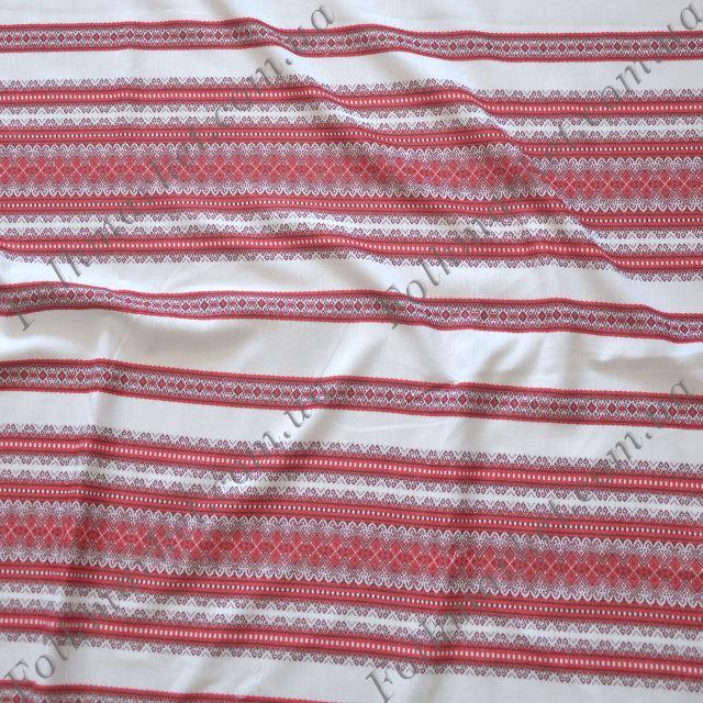 Ткань для скатерти с украинской вышивкой Виолетта ТДК-65 4/3