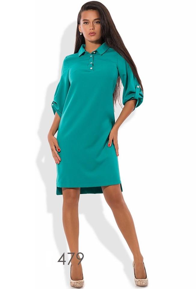 d8485b496 Бирюзовое офисное платье-поло - Lace Secret - Магазин женского белья и  одежды в Киеве