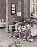 Покрывало Плед на диван, кровать двухсторонний хлопковый Плед 200х240 см