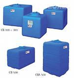 Накопительный бак для воды и других жидкостей ELBI CB 200, емкость 200л, прямоугольный, фото 2
