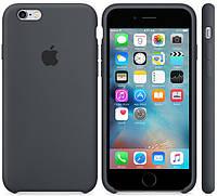 """Оригинальный силиконовый чехол для Apple iPhone  6/6s Soft Touch (4.7"""") Темно-серый"""