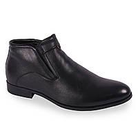 Стильные мужские ботинки Basconi (натуральная кожа, зимние, качественная обувь, на замке, теплые)