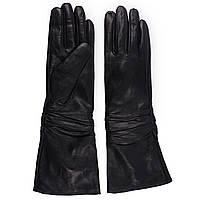 Женские перчатки( кожаные, черные, зимние, на флисе, длинние)