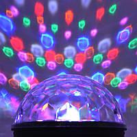Светомузыка, диско шар c MP3 плеером LED Ball Light с пультом и динамиком 220В