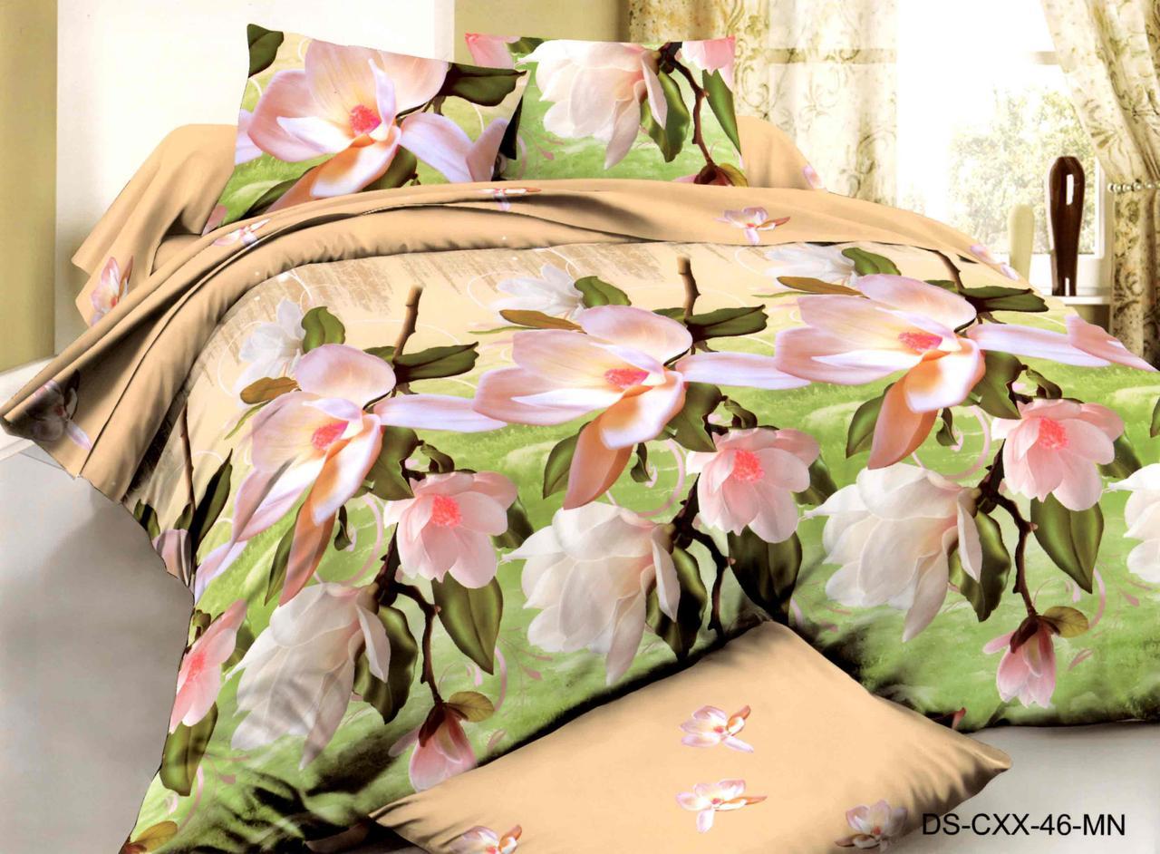 Двуспальный набор постельного белья 180*220 из Полиэстера №171 Черешенка™