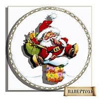 """Набор в технике папертоль РТ150072 """"Дед мороз на трубе"""""""