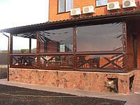 Прозрачные ПВХ шторы на загородную усадьбу, фото 1
