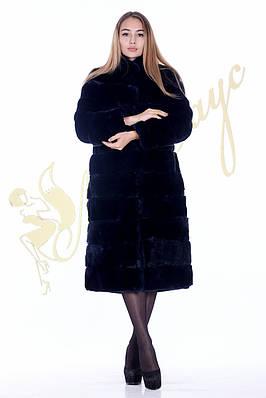 Шуба из кролика рекс женская , воротник стойка