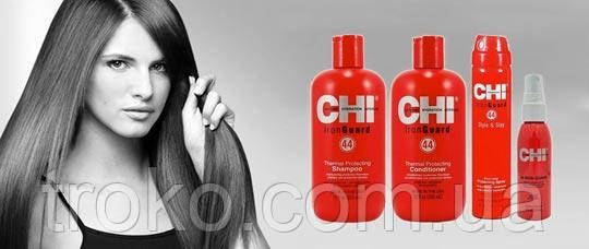 CHI 44 Iron Guard Shampoo 12 oz. Термозащитный шампунь для волос 355мл